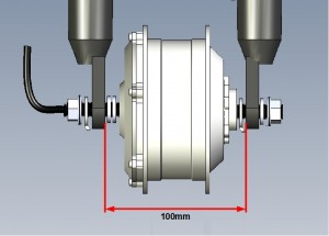 Entraxe roue AVANT : 100mm