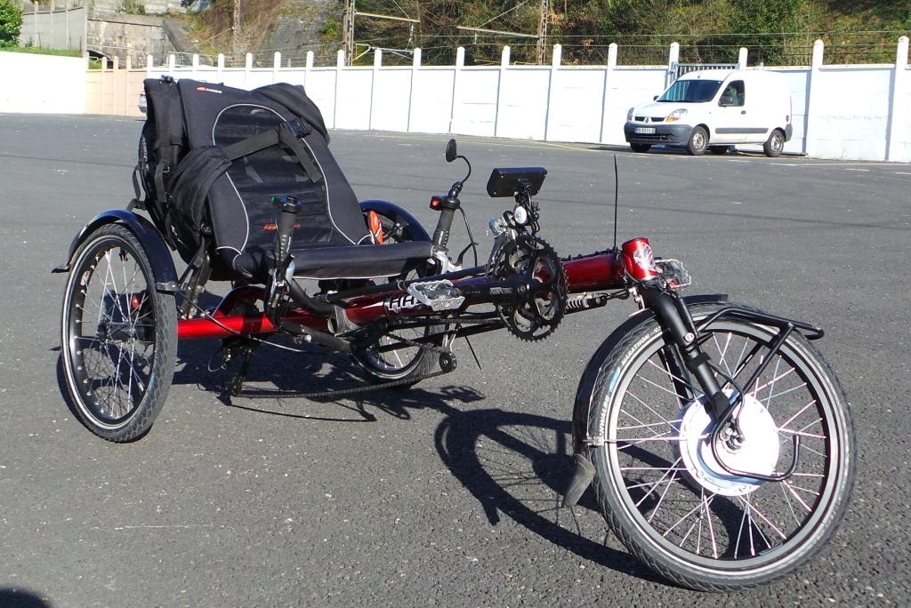 Un trike lectrique performant kit v lo lectrique - Tricycle couche electrique ...