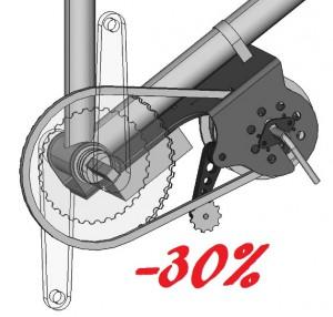 kit moteur pedalier velo