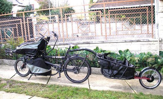 remorque à vélo électrique